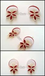 Paper Quilling Earrings 18 by smreko