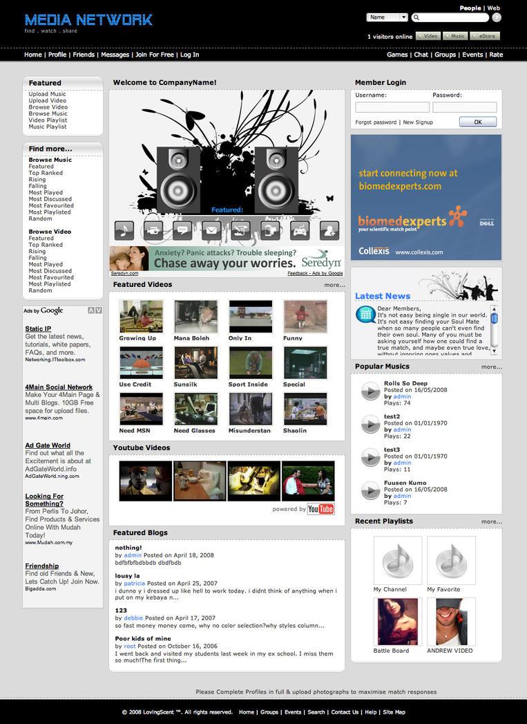 Social Media Website Template Me003 By Phyllis L On Deviantart