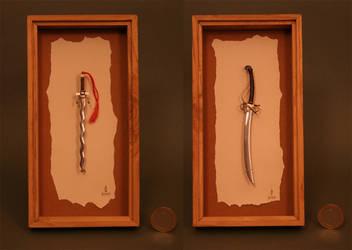 miniature swords
