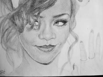 Drawing: Rihanna by crazyemm