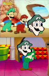 Mario and Luigi's TV + Mama Weegee by GoofyGoober1012