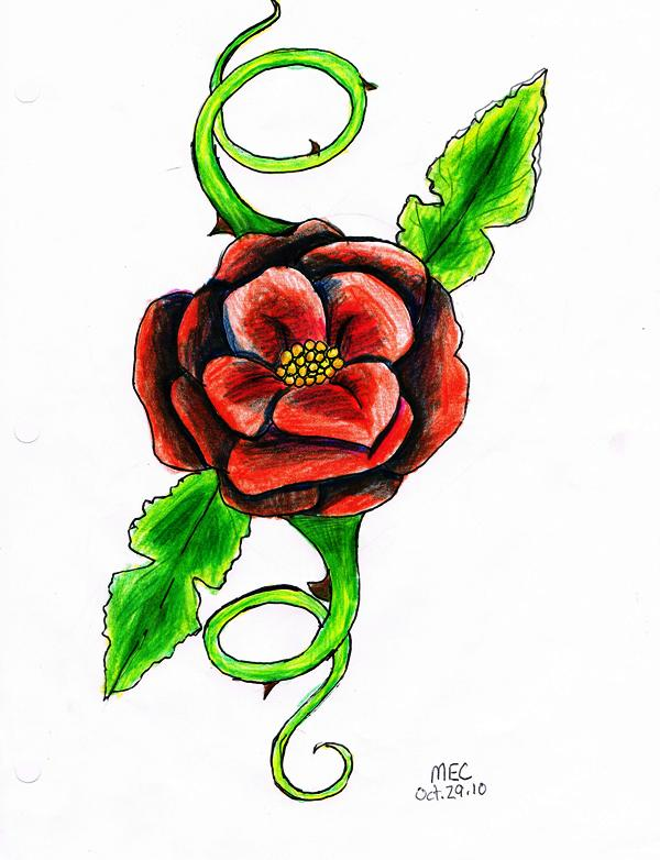 Saviha's Art Cabinet Rose_tattoo_design_by_shadowstarlette-d31rjp3