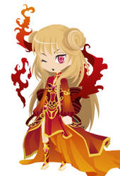 [COLSED] Free adoptable - Fire girl by Chocho-Takeda