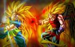 Goku SSJ3 vs Dark Angel Vegeta SSJ4