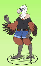 Vulture fursona for a friend