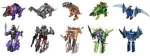 G1 AoE Dinobots Digibash by Air-Hammer