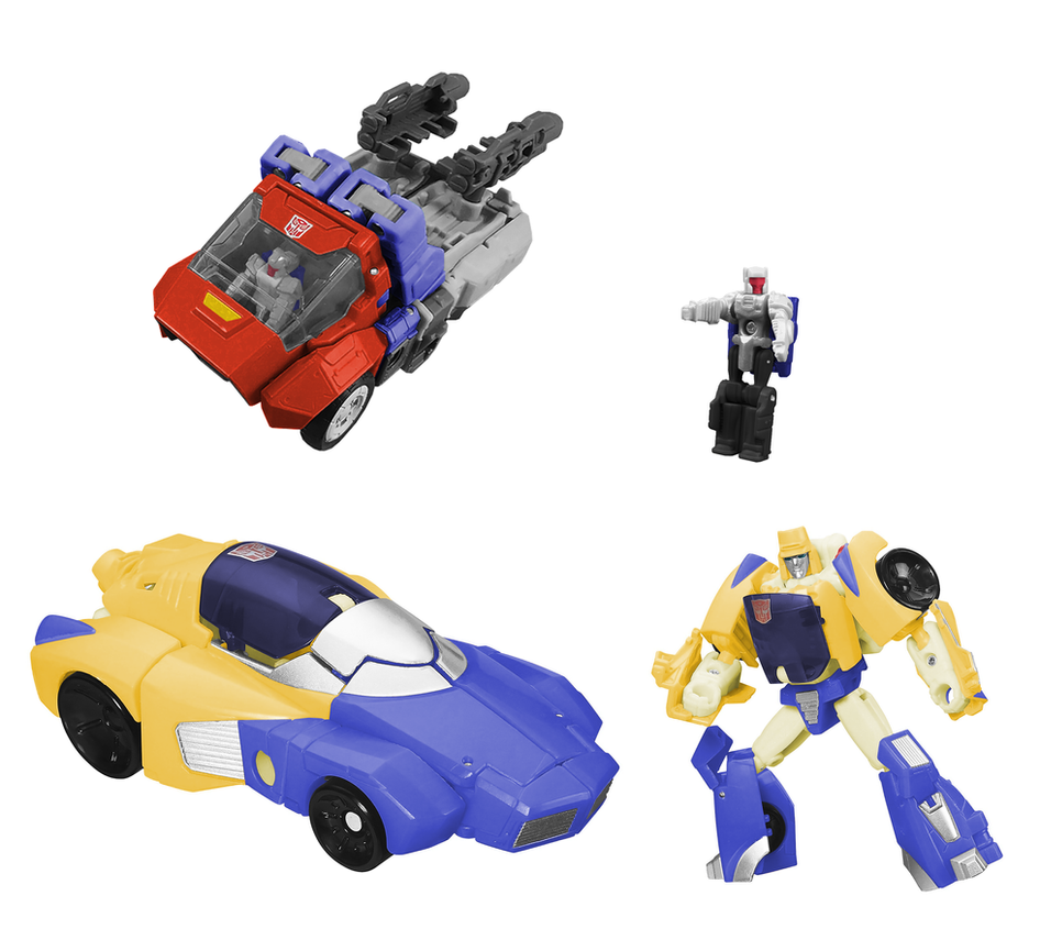 Orion Pax and Dion w/Barrelroller Digibash by Air-Hammer