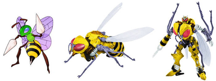 Waspinator and Beedrill Digibash