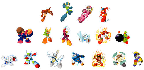 MegaMan and the Robot Masters (Captain N Style)