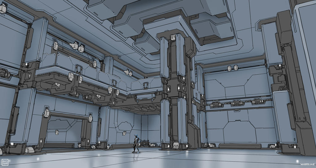 Warframe: Interior redesign- Ingame drawover by SBigham