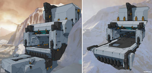 Warframe: Exterior Buildings drawovers by SBigham