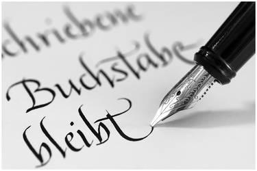 ...geschriebene Buchstabe bleibt...