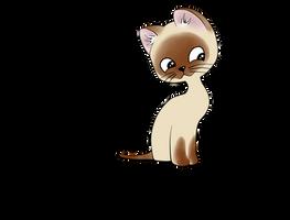A kitten named Woof by GMugiwaraBoushi