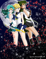 Outer Senshi in the Sky by Kymoon