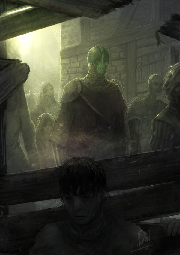 a Warm day in the town of undead by Nerva1