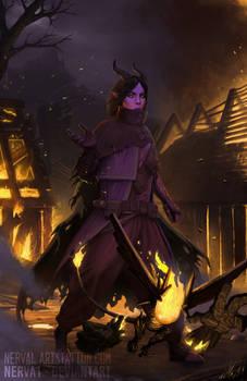 Fix and Vita / Warlock dnd / Mistlight Fanart