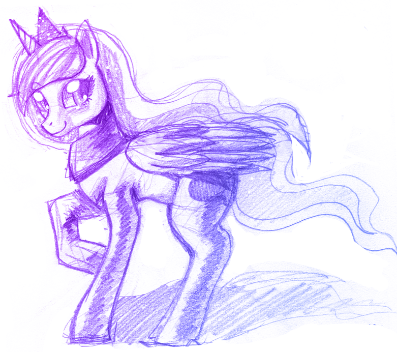 Luna doodle by Mewball