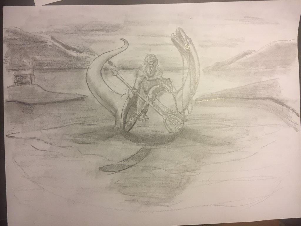 Yeti on the Loch Ness monster