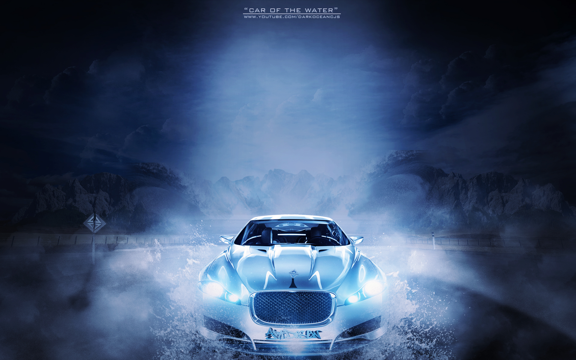 Photomanipulation Car Of The Water By Artdesign Graphics