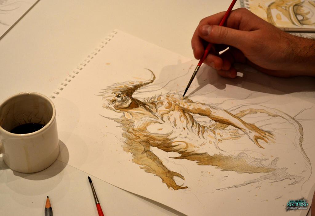 Boceteando con cafe :) by Dibujante-nocturno
