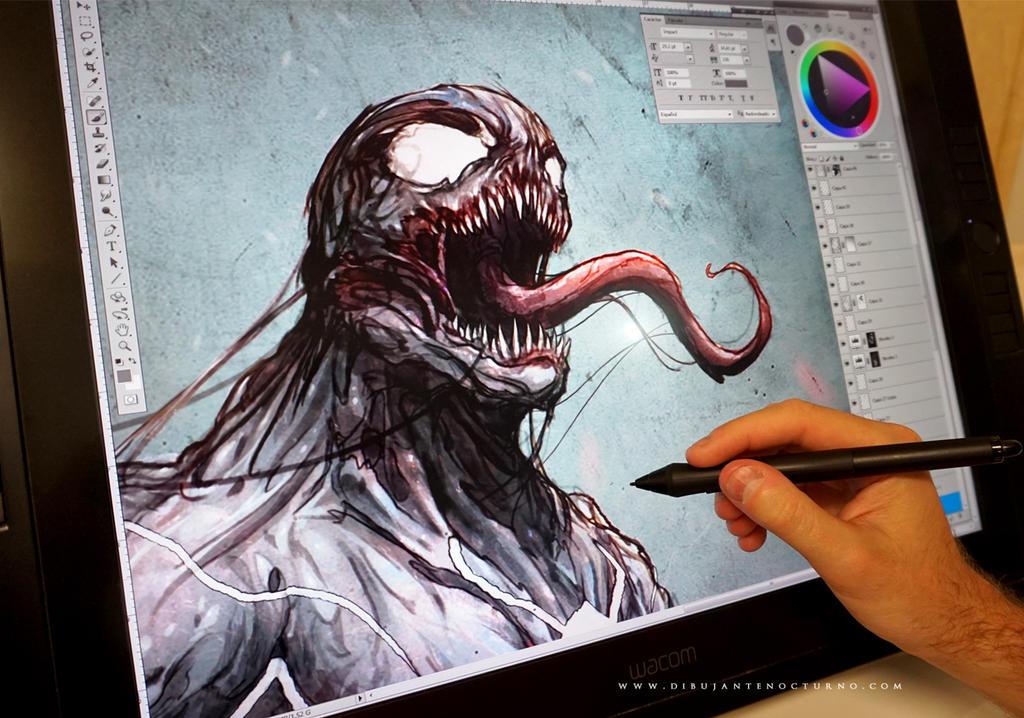 Venom in progress :) by Dibujante-nocturno