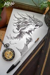 Inktober Dragon :) by Dibujante-nocturno