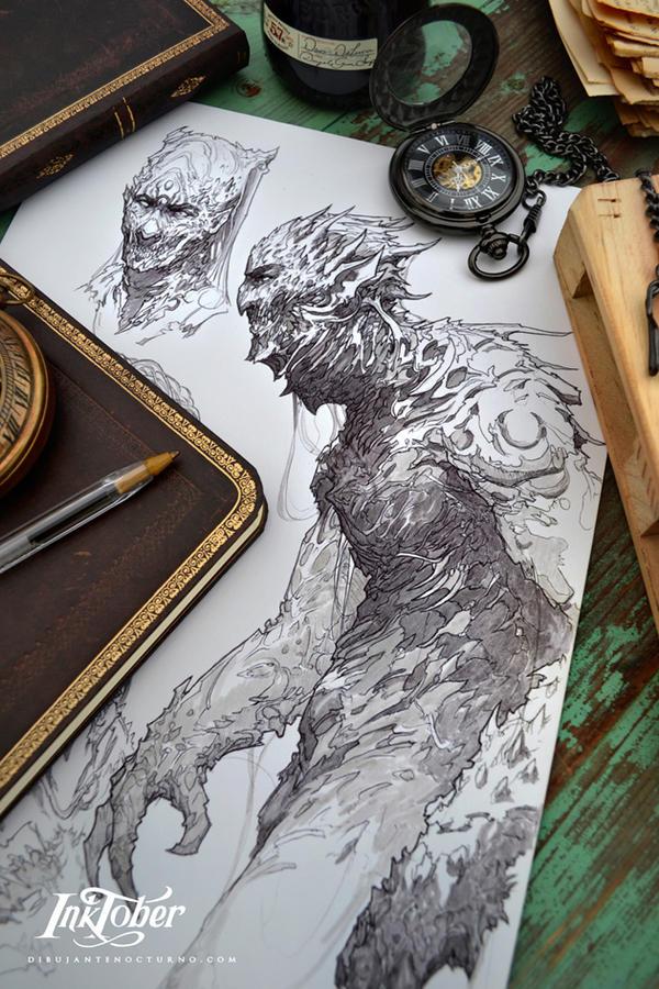 Inktober Demon :) by Dibujante-nocturno