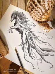 CREATUANARY day 2 (Hippocampus) by Dibujante-nocturno