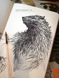 #creatuanary Day 22: #werewolf by Dibujante-nocturno