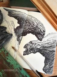 #creatuanary Day 24: #xenomorph by Dibujante-nocturno