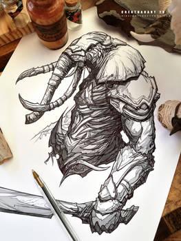 #creatuanary Day 29: #elephant #warrior