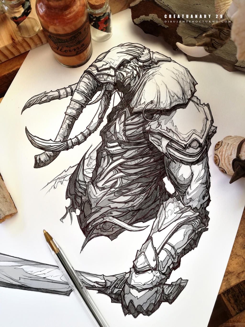 #creatuanary Day 29: #elephant #warrior by Dibujante ...