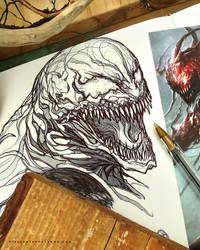Venom // Sketch :)  by Dibujante-nocturno