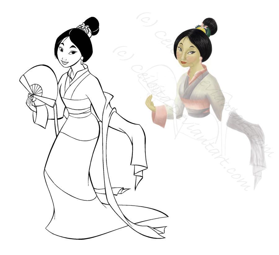 Mulan Coloring Book by Ceibita on DeviantArt