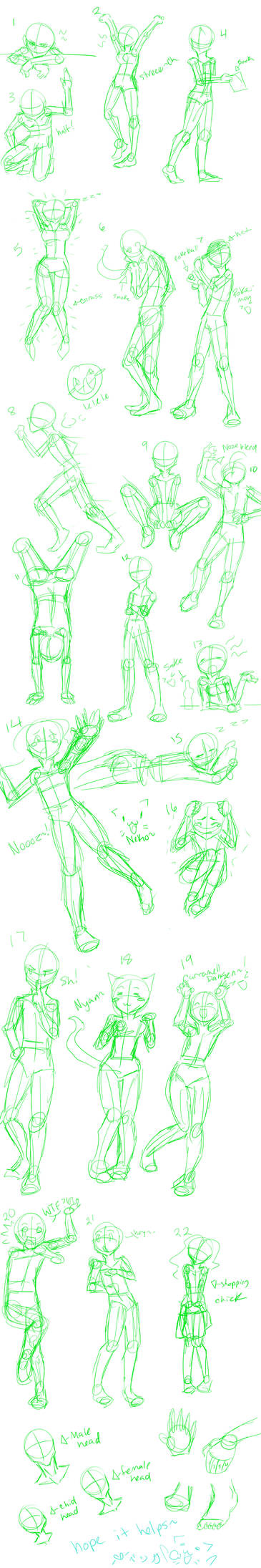 more than 20 poses