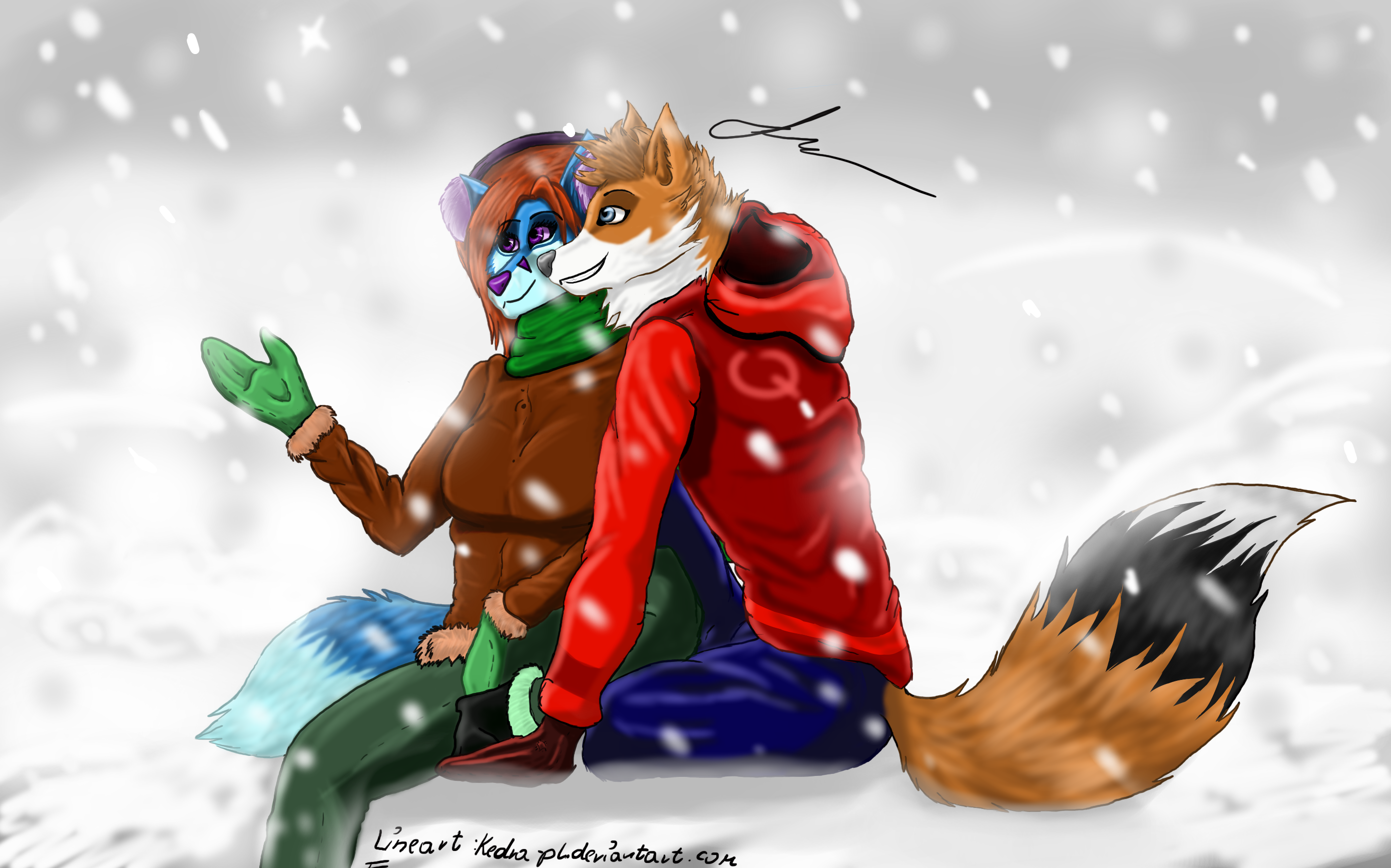 Furry merry christmas by Kedra-PL