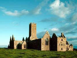 Ruins of Ross abbey, Ireland by Dwyfael