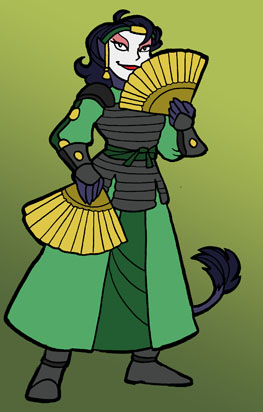 Jazz as a Kyoshi Warrior by SurlyQueen