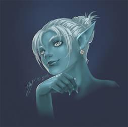 Dark Elf by CrowBlackSoi