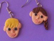 KATNISS AND PEETA EARRINGS!!! by claymasey98