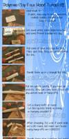 Polymer clay, faux wood tutorial!!