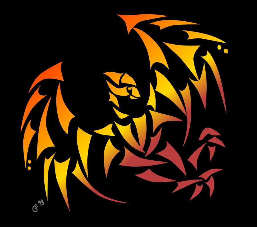 Firebird on Black by jimbox31