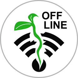 OFF LINE Circle Badge