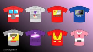 Transformers T-Shirts Design Concepts G1 Set 1 by jimbox31