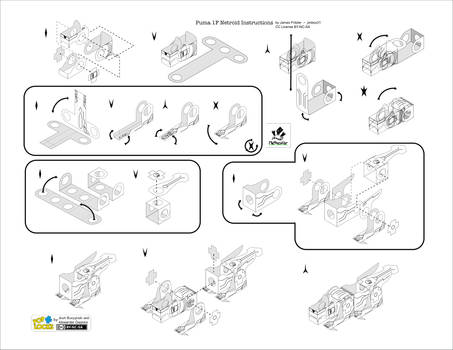 Instructions for Puma 1F Netroid Papercraft