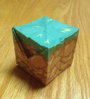 Origami Pre-Printed Grassy Miner Game Boxes by jimbox31