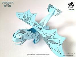 Fracta the Frozen Dragon Netroid Papercraft by jimbox31