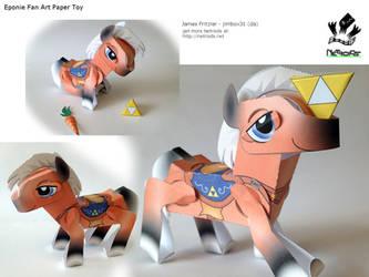 Epona Fan Art Poseable Papercraft by jimbox31