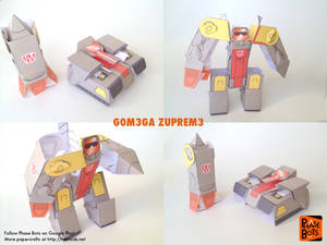 Transformers Omega Supreme Papercraft Fan Art