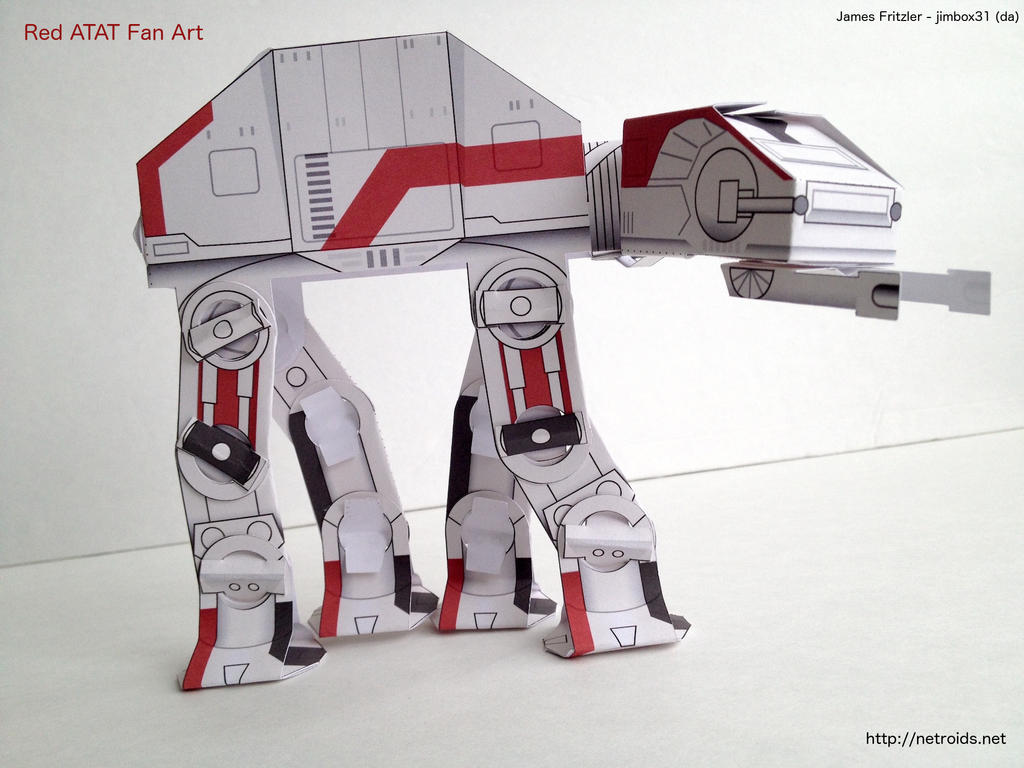 red star wars atat papercraft only 15 parts by jimbox31 on deviantart. Black Bedroom Furniture Sets. Home Design Ideas